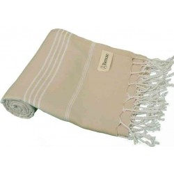 Anatolia Turkish Towel - 37X70 Inches, Beige