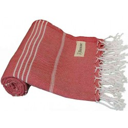Anatolia Turkish Towel - 37X70 Inches, Red