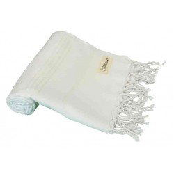 Anatolia Turkish Towel - 37X70 Inches, White