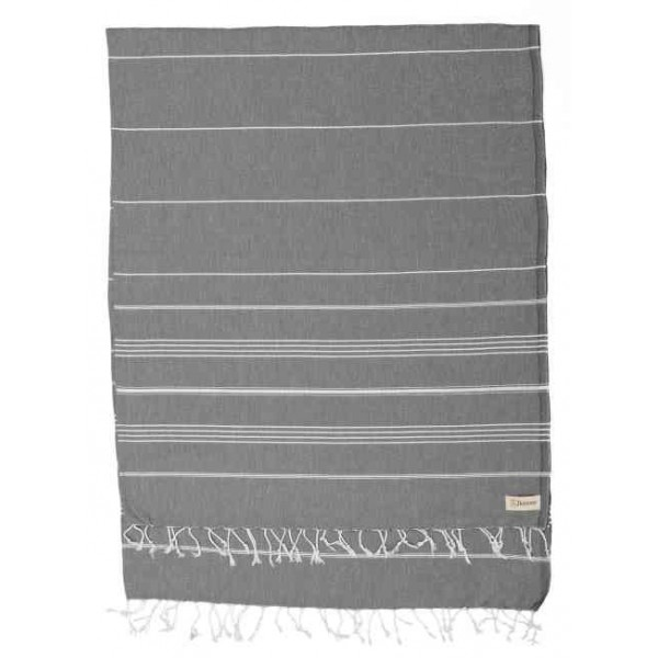 Anatolia XL Throw Blanket Turkish Towel - 61X82 Inches, Anthracite