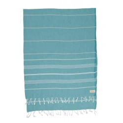 Anatolia XL Throw Blanket Turkish Towel - 61X82 Inches, Aqua