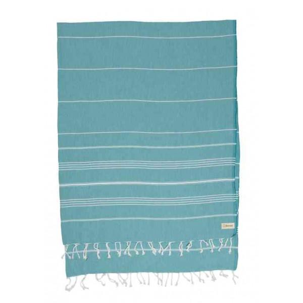 Anatolia XL Throw Blanket Turkish Towel - 61X82 Inches, Aqua