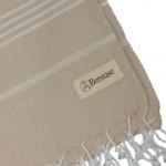 Anatolia XL Throw Blanket Turkish Towel - 61X82 Inches, Beige