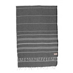 Anatolia XL Throw Blanket Turkish Towel - 61X82 Inches, Black