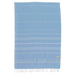 Anatolia XL Throw Blanket Turkish Towel - 61X82 Inches, Blue