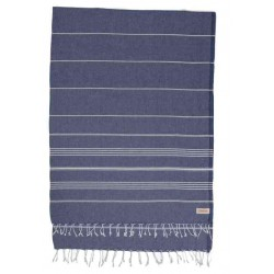 Anatolia XL Throw Blanket Turkish Towel - 61X82 Inches, Dark Blue