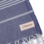 Anatolia XL Throw Blanket Turkish Towel - 61X82 Inches, Dark Blue