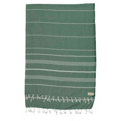 Anatolia XL Throw Blanket Turkish Towel - 61X82 Inches, Forest Green