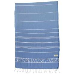 Anatolia XL Throw Blanket Turkish Towel - 61X82 Inches, Grey Blue