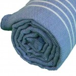 Anatolia XL Throw Blanket Turkish Towel - 61X82 Inches, Grey Blue