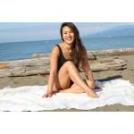 Anatolia XL Throw Blanket Turkish Towel - 61X82 Inches, Natural Gold