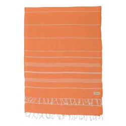 Anatolia XL Throw Blanket Turkish Towel - 61X82 Inches, Orange