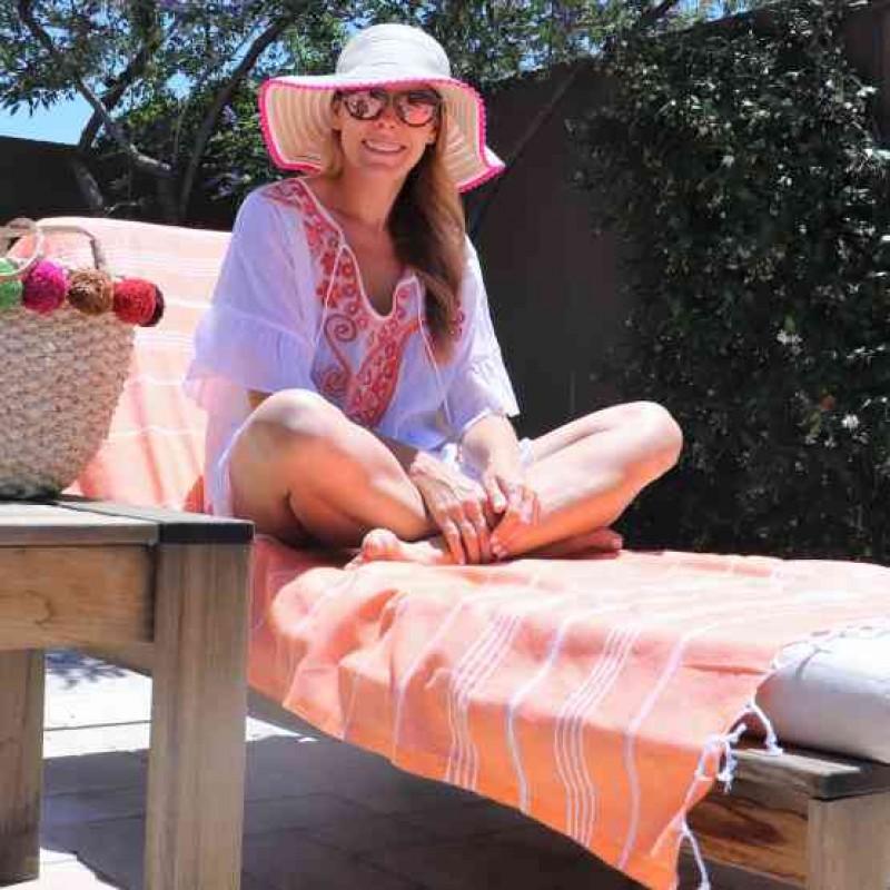 Beach Blanket Tempest Musical: Anatolia XL Beach Blanket Orange