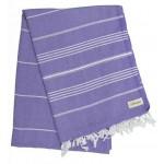 Anatolia XL Throw Blanket Turkish Towel - 61X82 Inches, Dark Purple