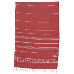 Anatolia XL Throw Blanket Turkish Towel - 61X82 Inches, Red