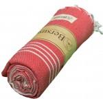 Anatolia XL Throw Blanket Turkish Towel - 61X82 Inches, Red
