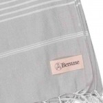 Anatolia XL Throw Blanket Turkish Towel - 61X82 Inches, Silver Grey