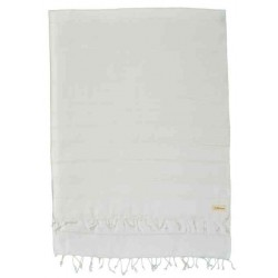 Anatolia XL Throw Blanket Turkish Towel - 61X82 Inches, White