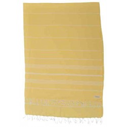 Anatolia XL Throw Blanket Turkish Towel - 61X82 Inches, Yellow