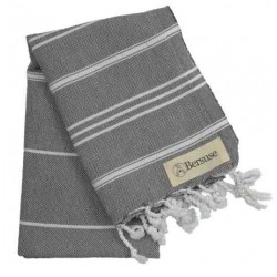 Anatolia Hand Turkish Towel - 22X35 Inches, Anthracite