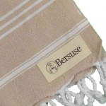 Anatolia Hand Turkish Towel - 22X35 Inches, Beige