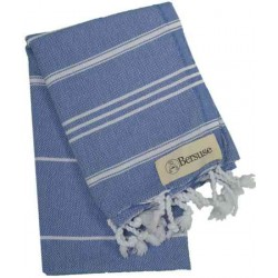 Anatolia Hand Turkish Towel - 22X35 Inches, Grey Blue