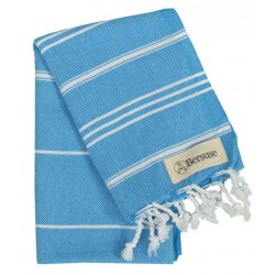 Anatolia Hand Turkish Towel - 22X35 Inches, Ocean Blue