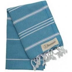 Anatolia Hand Turkish Towel - 22X35 Inches, Sea Blue