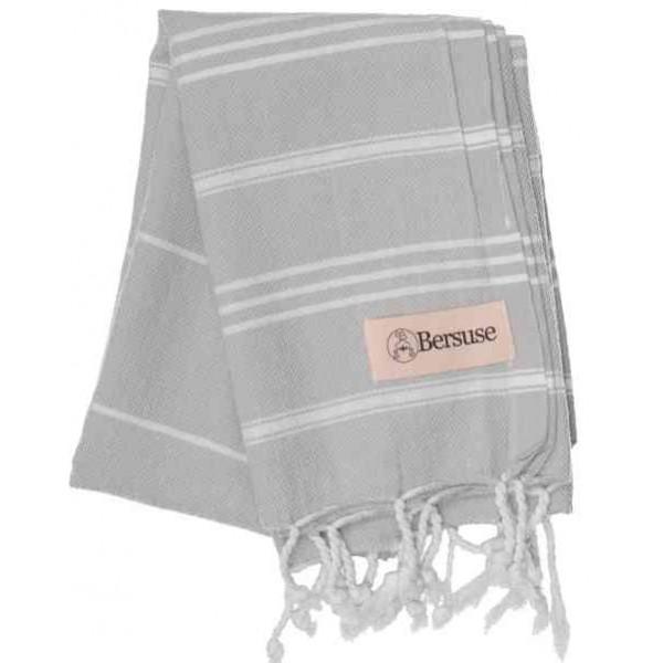 Anatolia Hand Turkish Towel - 22X35 Inches, Silver Grey