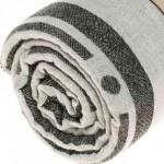 Aruba Dual-Layer Turkish Towel -37X70 Inches, Black