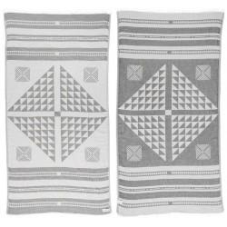 Aruba Dual-Layer Turkish Towel -37X70 Inches, Silver Gray