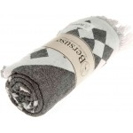 Bahamas Dual-Layer Turkish Towel -37X70 Inches, Black