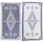 Bahamas Dual-Layer Turkish Towel -37X70 Inches, Dark Blue