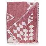 Bahamas XL Dual Layer Throw Blanket  - 78X94 Inches, Burgundy