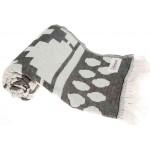 Baja Dual-Layer Turkish Towel -37X70 Inches, Black