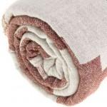 Baja Dual-Layer Turkish Towel -37X70 Inches, Burgundy