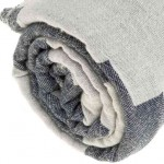 Baja Dual-Layer Turkish Towel -37X70 Inches, Dark Blue