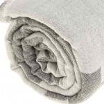 Baja Dual-Layer Turkish Towel -37X70 Inches, Silver Gray