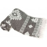 Belize Dual-Layer Turkish Towel - 37X70 Inches, Black