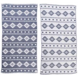 Belize Dual-Layer Turkish Towel - 37X70 Inches, Dark Blue