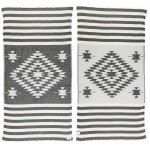 Carmen Dual-Layer Turkish Towel -37X70 Inches, Black