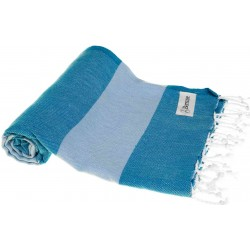 Cayman Turkish Towel - 37X70 Inches, Blue/Light Blue