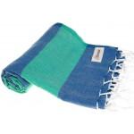 Cayman Turkish Towel - 37X70 Inches, Blue/Mint Green
