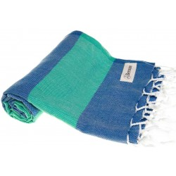 Cayman Turkish Towel - 37X70 Inches, Blue/Mint Green