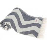 Coronado Dual-Layer Turkish Towel - 37X70 Inches, Dark Blue