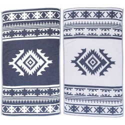 Cozumel Dual-Layer Turkish Towel - 39X71 Inches, Dark Blue