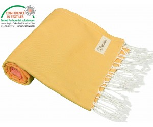 Ephesus Beach Towel Coral Yellow