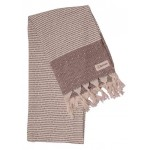 Hierapolis Turkish Towel - 37X70 Inches, Burgundy