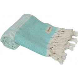 Hierapolis Turkish Towel - 37X70 Inches, Mint Green