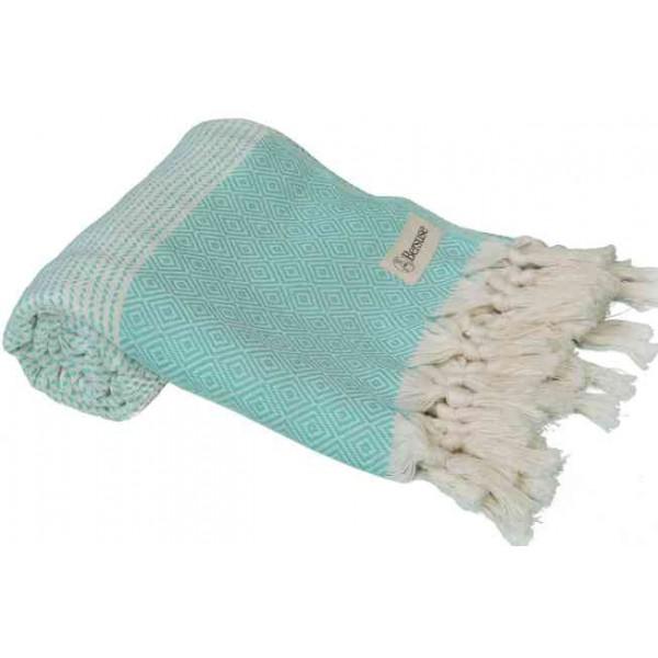 Hierapolis Turkish Towel - 37X70 Inches, Mint Green